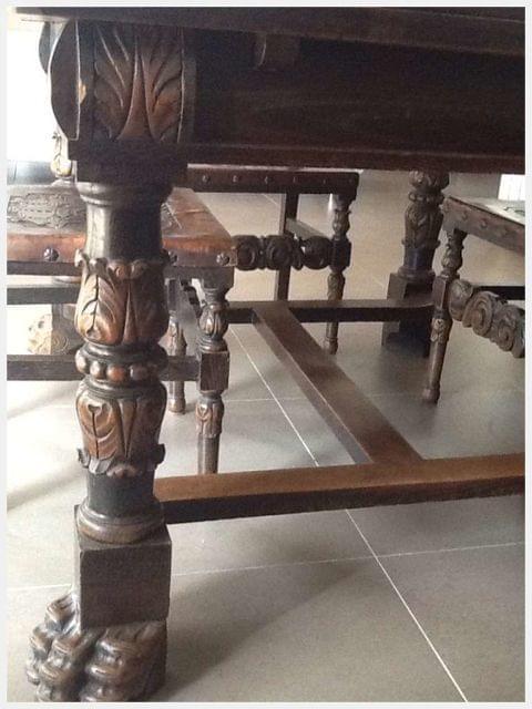 mesas y sillas de comedor antiguas