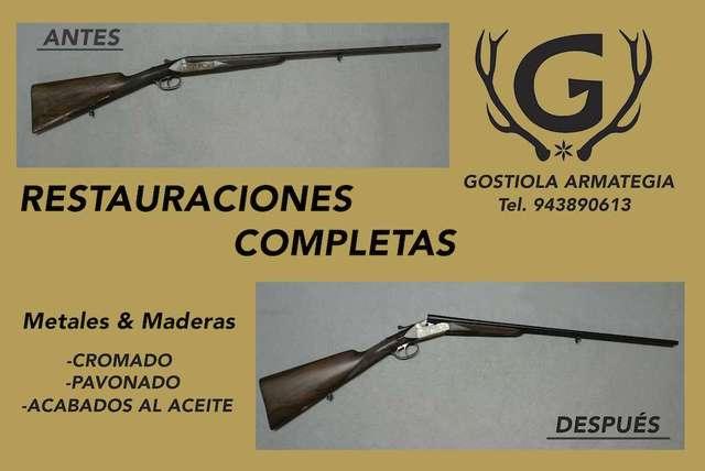 RESTAURACION DE ARMAS; CROMADO, PAVONADO