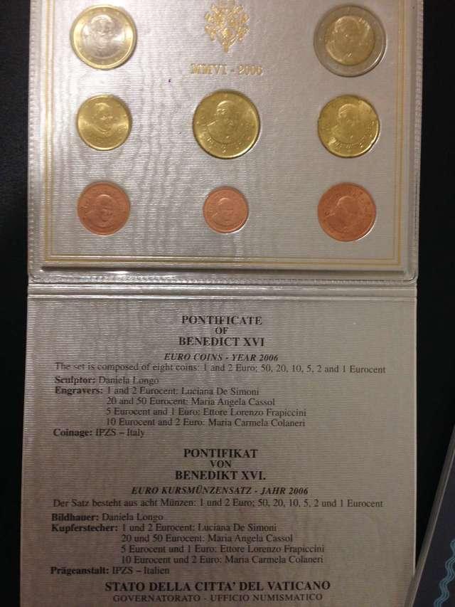 Coleccion Monedas Euros El Vaticano 2006