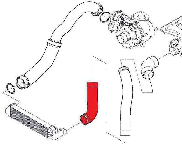 TURBO INTERCOOLER AIR HOSE FOR BMW 3 SERIES E46 318D 320D 11617799394