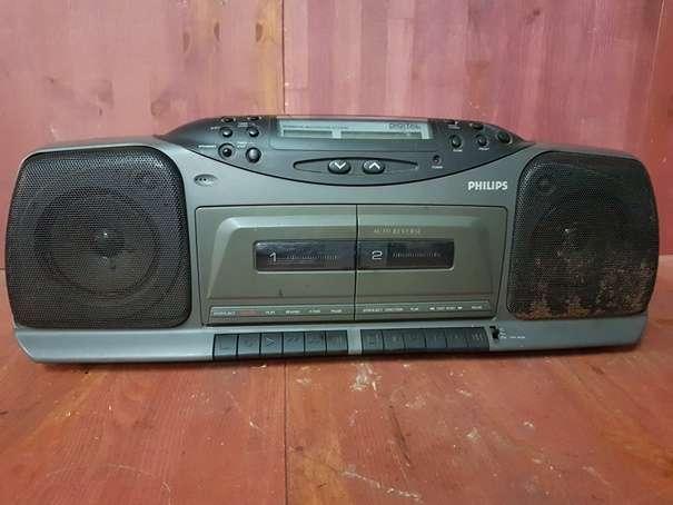 RADIO CASSETTE PORTATIL DOBLE PLATINA PH - foto 1