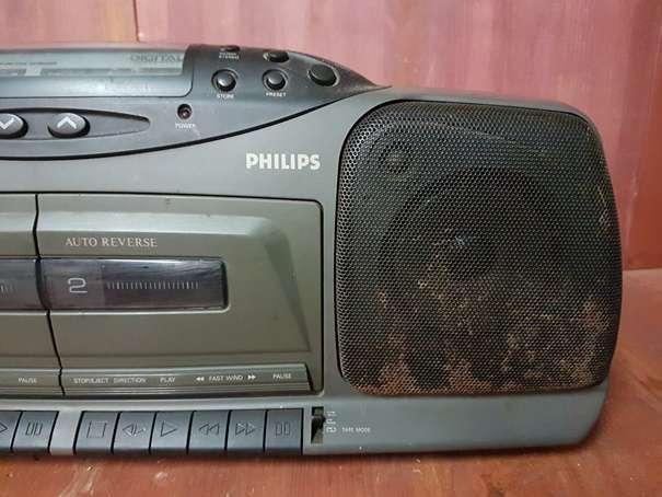 RADIO CASSETTE PORTATIL DOBLE PLATINA PH - foto 3