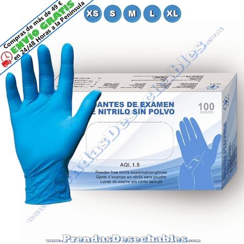 1000 unidades desechables de nitrilo azul guantes sin polvo de limpieza comida Medical