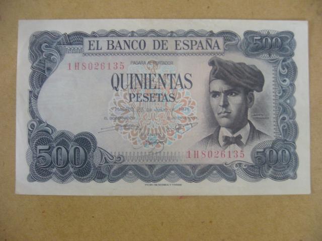 Billete Español Jacinto Verdeguer 1971
