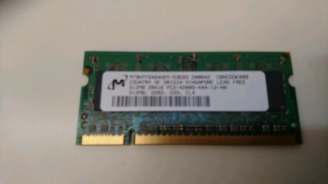 2 MEMORIAS DDR2 PORTÁTIL