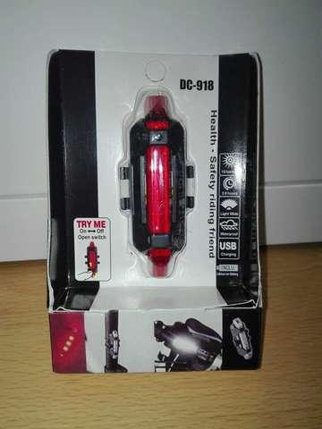 LUD LED TRASERA BICICLETA RECARGABLE USB