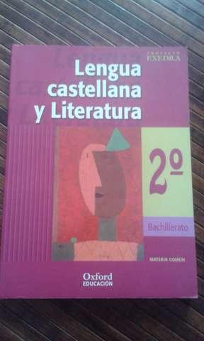 LENGUA CASTELLA NA Y LITERATURA 2º BACHI