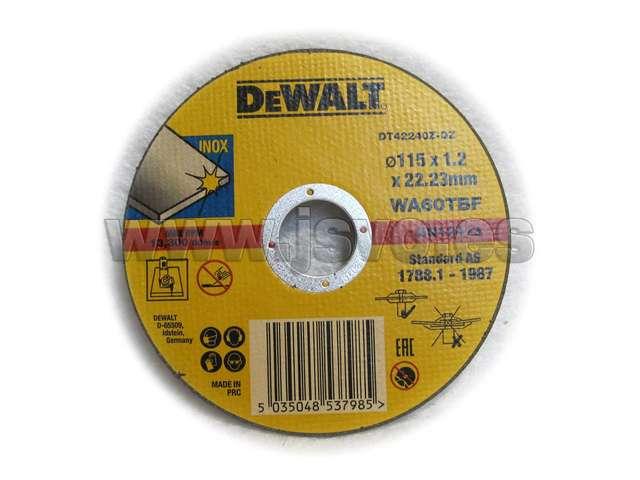 DISCO DE CORTE DEWALT DT42240Z-QZ