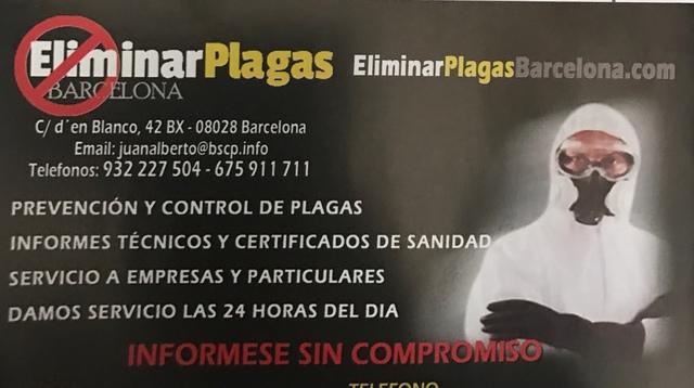 SIN PLAGAS BARCELONA- DESINFECCION - foto 1