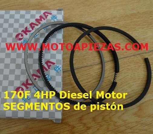 170F 4HP DIESEL MOTOR,  SEGMENTOS DE PIST - foto 1