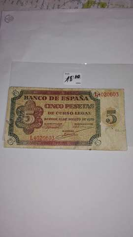 5 Pesetas 1938**L 4020603++