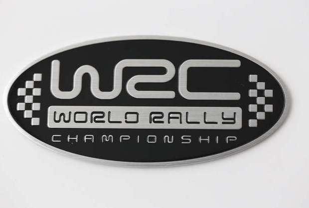 PLACA WRC CHAMPIONSHIP COLOR NEGRO
