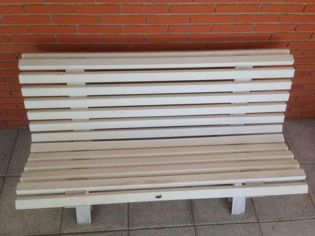 Banco De Resina Para Terraza Blanco