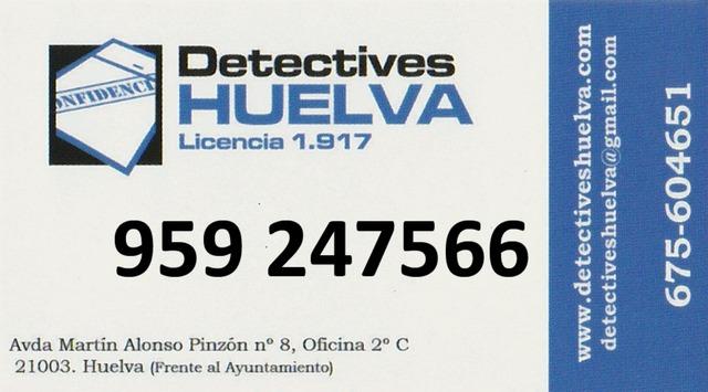959247566.  DETECTIVE DE HUELVA.  - foto 1