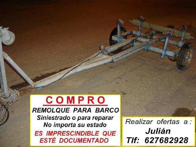 COMPRO REMOLQUE PARA BARCA BARATO - foto 1