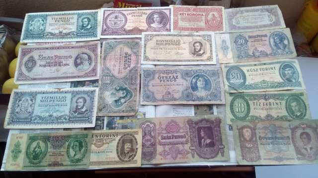Colección De 15 Billetes De Hungría Muy