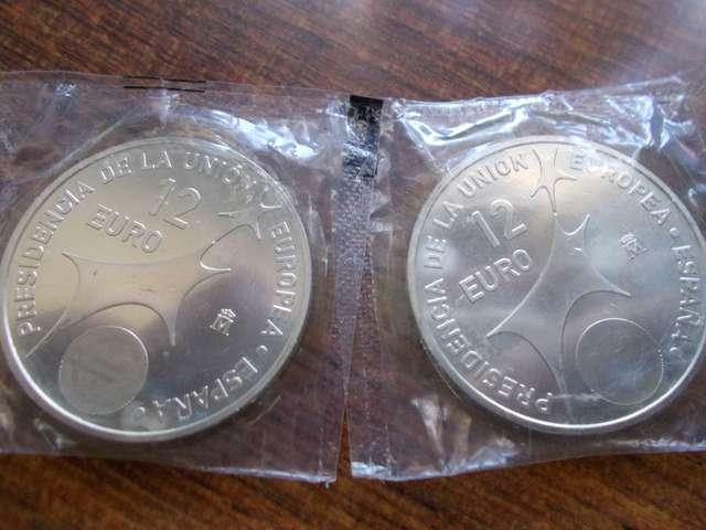 Monedas De Plata Año 2002.
