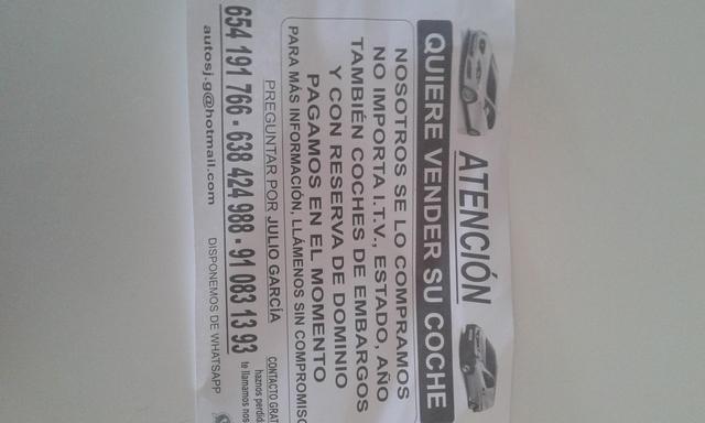 COMPRO COCHE CON Y SIN ENVARGO