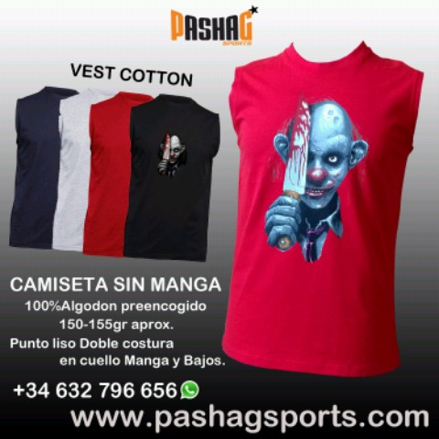 CAMISETA SIN MANGA RED BALL GYM