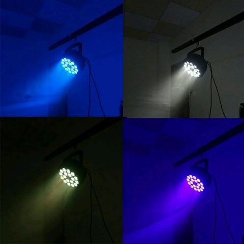 2 FOCOS LED DMX 18X10W RGBW NUEVOS