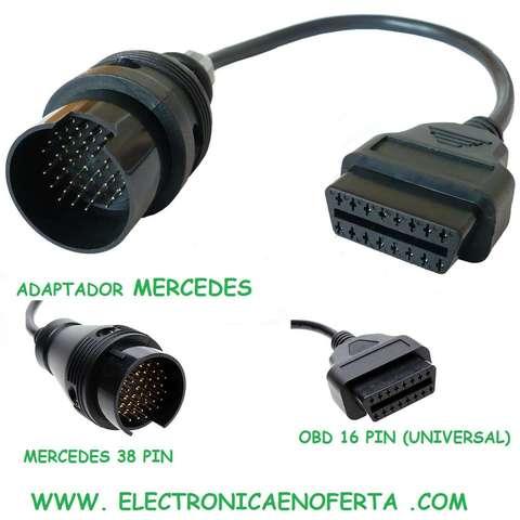 ADAPTADOR MERCEDES OBD A CONECTOR 38 PIN