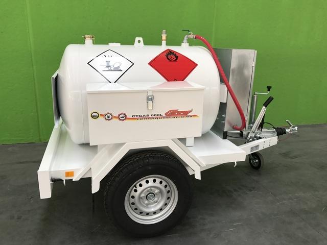 REMOLQUE CISTERNA DE GASOIL 600 L 1E
