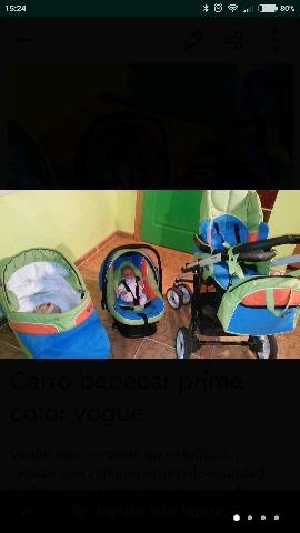 CARRO TRÍO BEBÉCAR PRIME CASI NUEVO