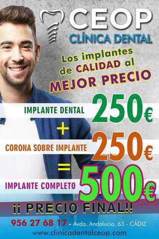 IMPLANTE DENTAL BARATO EN CADIZ OFERTA - foto 1