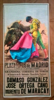 Cartel De Toros De Madrid 5/6/1983.