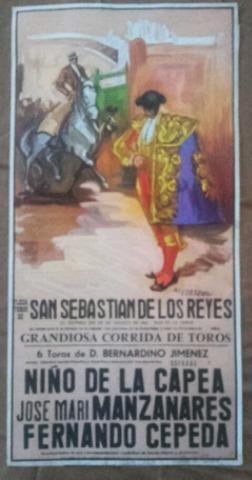 Cartel De Toros De Sanse 1987.