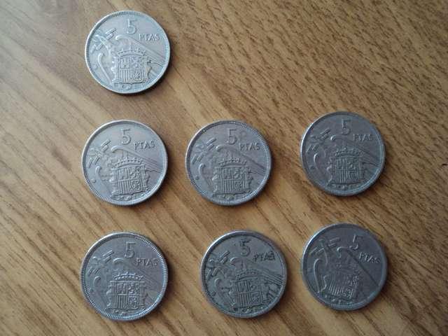 Monedas De 5 Pesetas De Franco