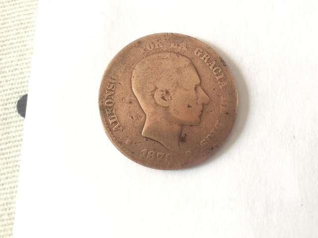 Moneda De 10 Cent. Alfonso Xii 1878