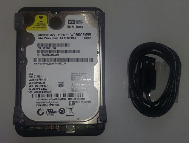 DISCO DURO 500 GB ,   USB 2, 5 HDD - foto 2