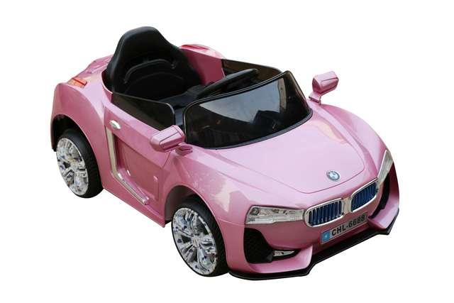 COCHE ELÉCTRICO BMW ROSA PARA NIÑOS