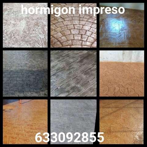 ALQUILER DE MOLDES DE HORMIGON IMPRESO