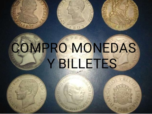 Compro Monedas Y Billetes Españoles