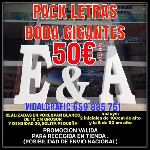 ADORNE BODA, PACK LETRAS NUPCIALES 42