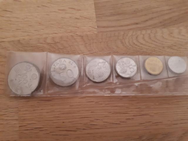 Monedas  Pesetas Mundial España Futbol