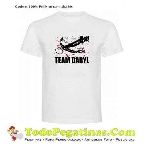 plato Hipócrita Aparecer  MIL ANUNCIOS.COM - Camiseta Team Daryl The Walking Dead TWD