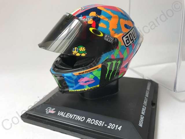 VALENTINO ROSSI MOTO-GP AGV 2015 HELMET 1//5 SIMONCELLI CIRCUIT MISANO CASCO GP