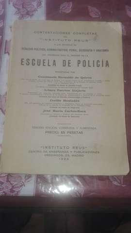 Temario Policía. 1928.Instituto Reus.