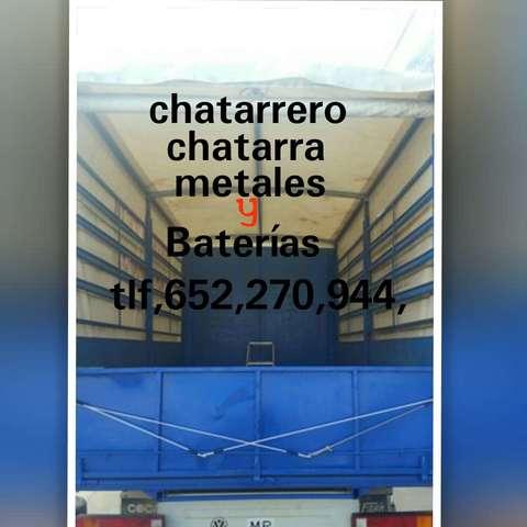 CHATARRERO CHATARRERÍA BATERÍAS LIMPIEZA