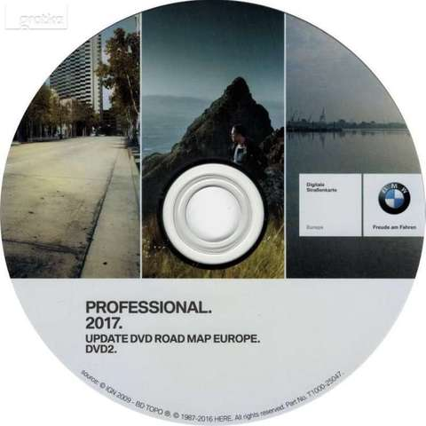 DVD GPS BMW ROAD MAP 2017 CON RADARES