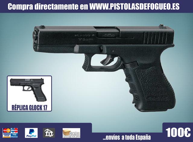 PISTOLA DETONADORA REPLICA DE LA GLOCK17