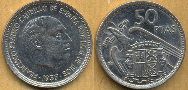 Monedas De 50 Pesetas De Franco