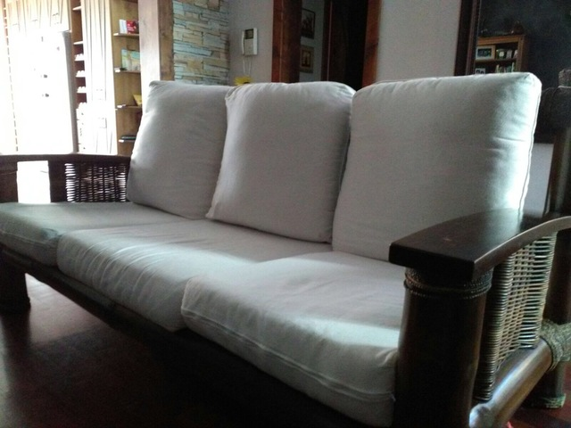 juego de sillones sofs y mesa bamb