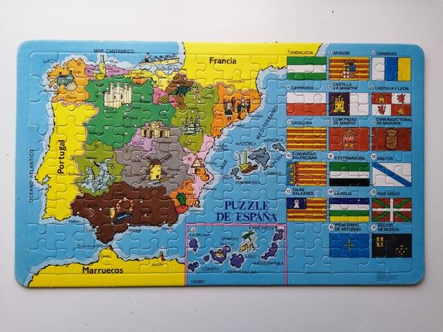 PUZZLE VINTAGE MAPA ESPAÑA
