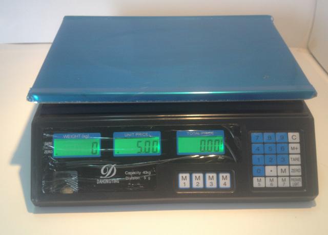PLFU801-BASCULA 40 KILOS BANDEJA INOX