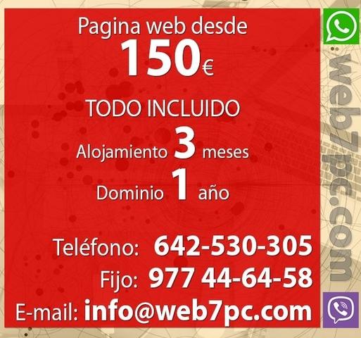 PAGINA WEB A PRECIO ECONOMICO EN LA RIOJ