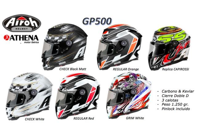 CASCOS AIROH GP500 COSMOS BLANCO